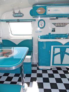 I love this!!!! Vintage Caravan Style via http://www.simplyfreshvintage.com/