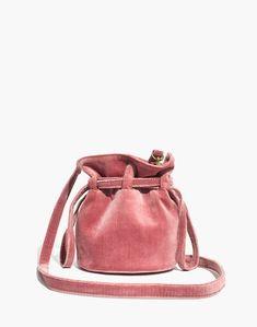 e055780b1dd6 The Florence Drawstring Crossbody Bag in Velvet in autumn berry image 1