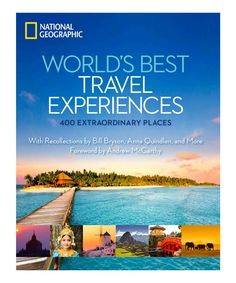 National Geographic Worlds Best Travel Experiences Hardcover   This lavish, evocative travel gift book spans the globe to offer introductions to the world's most transformative places, from Thailand's Chiang Mai to Australia's Uluru monolith, with maps, sidebars and full-color images.