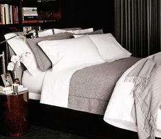 as much as i love all white bedding, this grey would certainly be more retriever-proof.