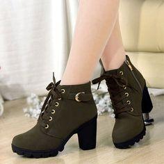 db0917f3a ... y otoño botas martin estilo británico botas plataforma tacón grueso  plataforma tacones altos zapatos mujer cordones de martin boots fiable  proveedores ...