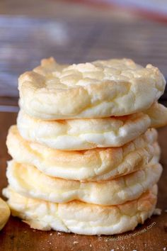 Cloud Bread is easy to make, low carb, under 40 calories each & the perfect way to lighten up a sandwich! Weight Watchers and 21 Day Fix approved!