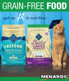 0d43079f703c BLUE Freedom® natural dry food for adult cats contains no grains, so it has