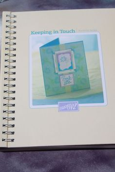 Stampin Up Keeping in Touch Portfolio Series Idea Book, 2002, Retired Collectibl #StampinUp #AWESOME