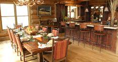 Beautiful Log Cabin Dining Room Ideas - Full Home Living