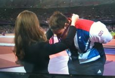 PHOTOS: Kate Middleton, Team GB Sweetheart Celebrates Seven Golds At Paralympic Games.  For the final seal of approval as the games sweetheart, the Duchess was on hand to hang the gold medal around British discus thrower Aled Davies' neck last night at the packed Olympic stadium where he picked up gold after an emotional competition.