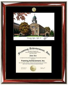 University of Dayton Lithograph Matted Diploma Frame  Choice of College Major Gold Seal Insignia  Premium Wood Glossy Prestige Mahogany with Gold Accents  Single Black Mat * Find out more about the great product at the image link. (This is an affiliate link and I receive a commission for the sales)