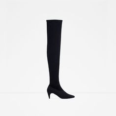 Image 1 of OVER THE KNEE KITTEN HEEL BOOTS from Zara