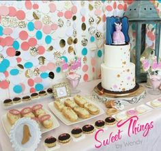Eclairs, tarts, and cookies.  Sweet Things by Wendy  sweetthingsbywendy.ca Edible Favors, Party Favours, Eclairs, Tarts, Centerpieces, Cookies, Sweet, Food, Mince Pies