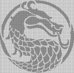 This is a pattern only! Cross Stitch Embroidery, Embroidery Patterns, Cross Stitch Patterns, Crochet Art, Filet Crochet, C2c, Dragon Cross Stitch, Pixel Art Templates, Crochet Afgans
