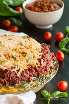 Enjoy this delicious Vegan Spaghetti Pie with Soy crumble and vegan cheese. #mightysoybean #ad