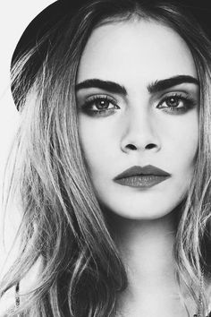 Cara Delevingne, I actually LOVE her eyebrows.... <3
