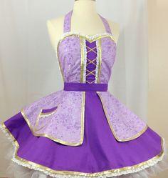 Rapunzel Tangled Pin Up Apron, Halloween Costume, Disneybound
