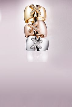 Liens by Chaumet | Jewels in white, yellow and pink Gold with diamonds