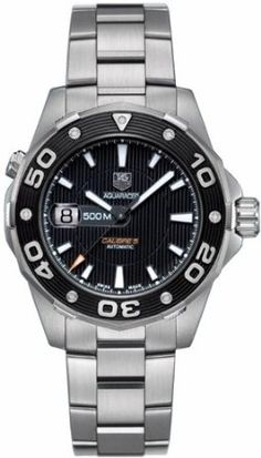 Buy TAG Heuer Men's WAJ2110.BA0870 Aquaracer Automatic 500M Calibre 5 Watch