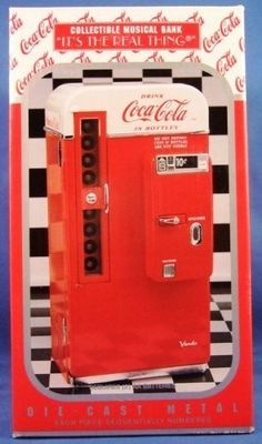 Coca Cola Vending Machine Musical Bank Vendo 1994 Coca-Cola