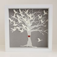 Lyric Wedding Gift picture Frame - 3D song wedding hearts framed art wedding gift. Wedding Vows or Song Lyrics and Photo heart art. $68.00, via Etsy. (or you can DIY)