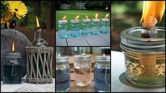 How to make your own mosquito repelling citronella candles – The Owner-Builder Network Mason Jar Candles, Mason Jar Crafts, Mason Jar Diy, Diy Hacks, Mosquitos, Citronella Candles, Tiki Torches, Diy Camping, Camping Hacks
