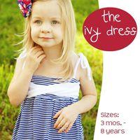 Ivy Sun Dress 3m8yr EPattern from SewBaby.com