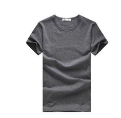 Free new Slim dark green red orange blue gray black white T shirts Slim Fit Short Sleeve T-shirt 6 size S-XXXL