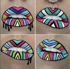 Lip Art 15: Tribal Art | Mesmerizing Instagram Lip Arts You Should Try
