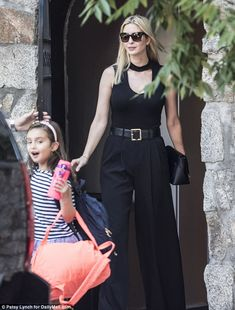 Ivanka Trump and her children flee D.C. for the weekend   Daily Mail Online Business Fashion, Business Women, Ivanka Trump Style, Donald And Melania Trump, Deepika Padukone Style, Trump Is My President, First Daughter, Work Looks, Suits
