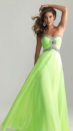 Dresses, Formal, Prom Dresses, Evening Wear: Long A-Line Neon ...