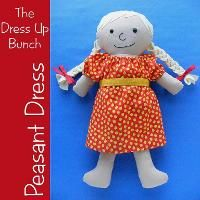 Peasant Dress Pattern for Dress Up Bunch