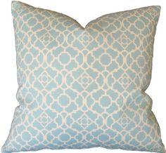 I/O - Seagate Indoor / Outdoor Pillow: Coastal Home Decor, Nautical Decor, Tropical Island Decor & Beach Furnishings