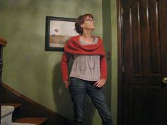 Chris Knits in Niagara: Cowl Scarf with Sleeves