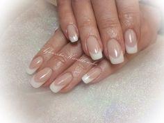 white french wedding nails
