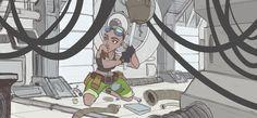 Matilda the Scifi Mechanic Character Design by Richtoon