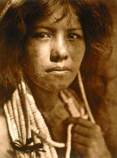 """A Pomo girl"",1924 -  Photo by Edward Sheriff Curtis (1868-1952)"