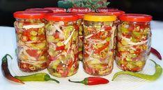 Romanian Food, Pickles, Cucumber, Mason Jars, Canning, Mason Jar, Pickle, Zucchini, Pickling