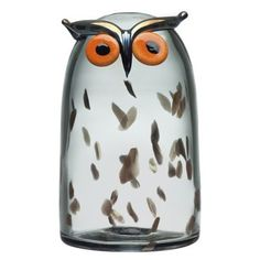 Birds by Toikka Long Eared Owl Sarvipöllö Iittala Nordic Design, Scandinavian Design, Long Eared Owl, Blown Glass Art, Owl Bird, Glass Birds, Art Object, Glass Design, Decoration
