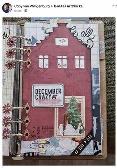 Holiday Planner, Elizabeth Craft Designs, Junk Journal, Bullet Journal, December Daily, Planner Pages, Art Journals, Mini Albums, Gallery Wall