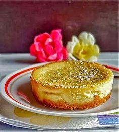 Mini tofu tea cheesecake with green tea and jasmine essence - yum! and so elegant! #recipe