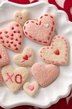 Strawberry Cream Cheese Heart Cookies recipe from Betty Crocker