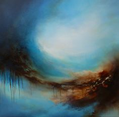 "Large Canvas Abstract Oil Painting by Artist Simon Kenny ""Netherworld"" on Etsy, $3,950.62"