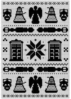 Doctor Who knitting chart  www.ravelry.com/...