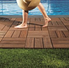 Outdoor wood flooring is instant and offers a great solution for an entertaining area.