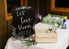 """let love bloom"" #weddingsign"