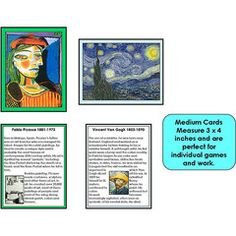 Famous Paintings Medium Cards Set 1