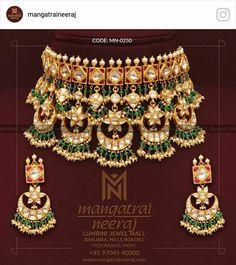 Polki Jewellery by MangatraiNeeraj. India Jewelry, Gold Jewelry, Jewelery, Antique Jewellery, Jewellery Designs, Gold Bangles, Necklace Designs, Jewelry Art, Diamond Jewelry