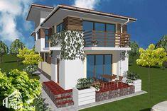 Un teren ingust, cu o deschidere mica la drum, nu trebuie sa fie un obstacol Lima, Design Case, House Plans, Modern Design, Real Estate, Exterior, House Design, Mansions, Luxury