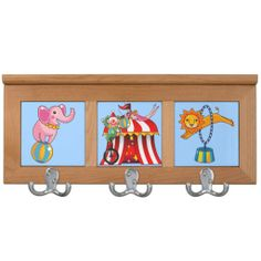 Kids Everyone Loves the Circus Coat Rack