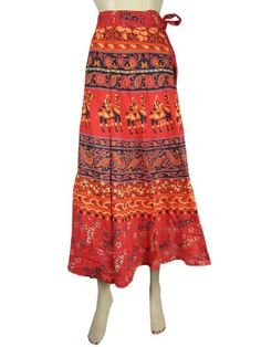 Wrap Around Skirt, Bohemian Fashion Gypsy Orange Cotton Wrap Skirt for Women, Peasant Skirt Mogul Interior,http://www.amazon.com/dp/B00CGVMJX2/ref=cm_sw_r_pi_dp_0UFDrb28F1CB45AB