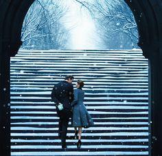 #lovers #love #snowy stairs