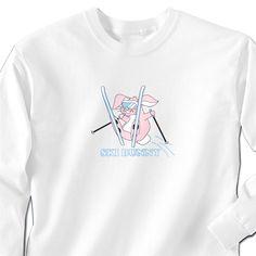 Skiing Tshirt Long Sleeve Ski Bunny | Skiing Long Sleeve Shirt