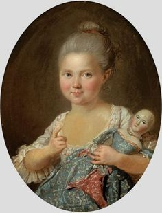 Attributed to  Charles Lepeintre (1785–1803) —  Portrait of a Little Girl with Her Doll (532x700)
